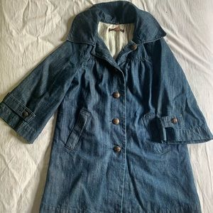 Broken in Japanese denim chore coat xs